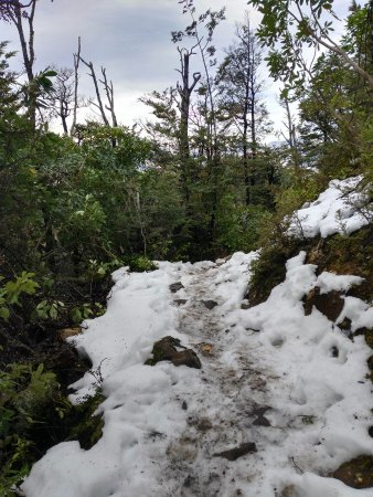 Hanmer Springs, Nova Zelândia: After about 1 hour - mud is finished and slippery snow starts