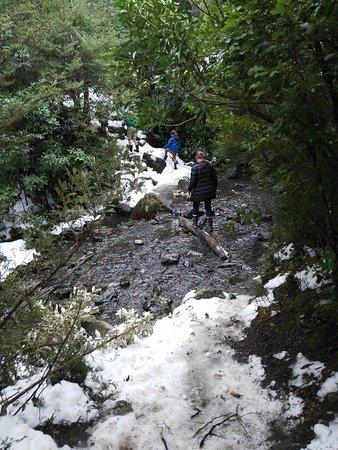 Hanmer Springs, Nova Zelândia: several times across the river