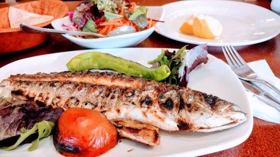 Borehamwood, UK: Grilled sea bass