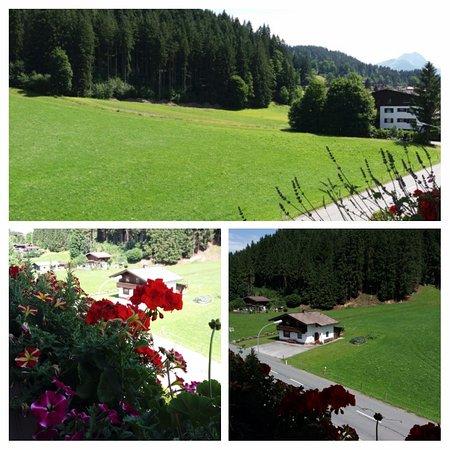 Hotel Taxacherhof: Uitzicht vanaf balkon