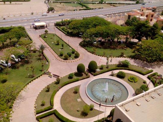 Ledger Plaza N'Djamena: Entrance to the hotel