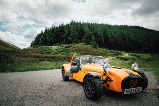 Elgin, UK: Caterham which we hired in the Cairngorms