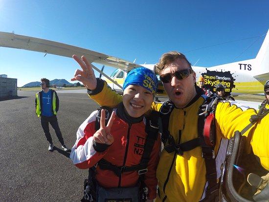 Taupo, Yeni Zelanda: me and my instructor Josh