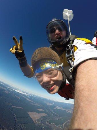 Taupo, Yeni Zelanda: flying in the sky~