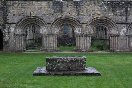 Fountains Abbey and Studley Royal Water Garden: Fountains Abbey and Studley Royal NT 040717