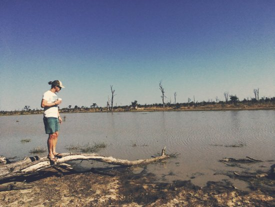 Maun, Botsvana: Gone to our happy place.