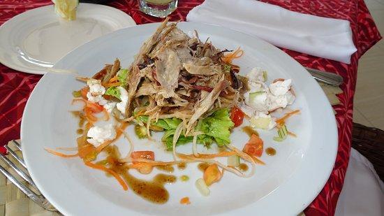 Pork-roast Salad, Rest. Amoa Resort; Faga, Samoa