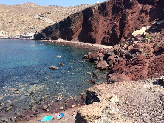 Plaża Red Beach Akrotiri: Spiaggia rossa
