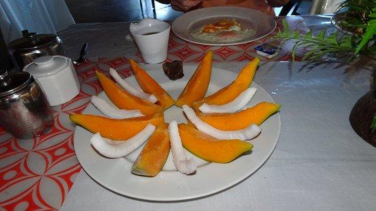 Frühstück-Fruchtplatte, Bayview Resort, Saleaula