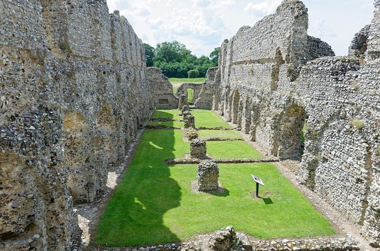 Castle Acre, UK: The (missing) first floor was the dormitory with reveille at 4am!