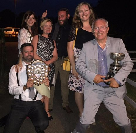 Whitstable, UK: Our trophies for Boeing Boeing & A Tale of Two Cities at the Kent Drama Association Festival 201
