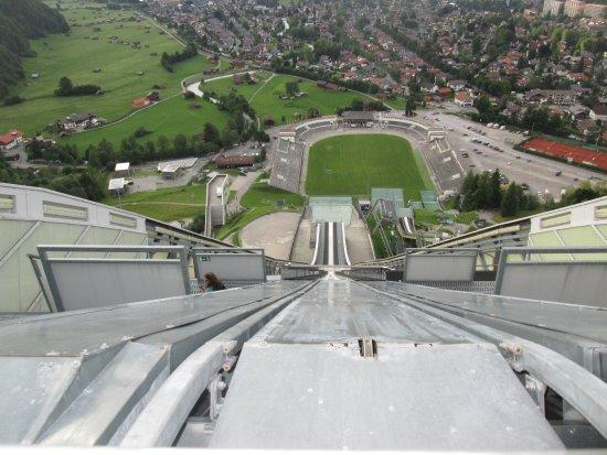 base of the flying fox zipline picture of olympiastadion garmisch partenkirchen. Black Bedroom Furniture Sets. Home Design Ideas