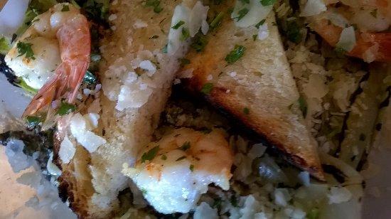 Geyserville, CA: Shrimp salad