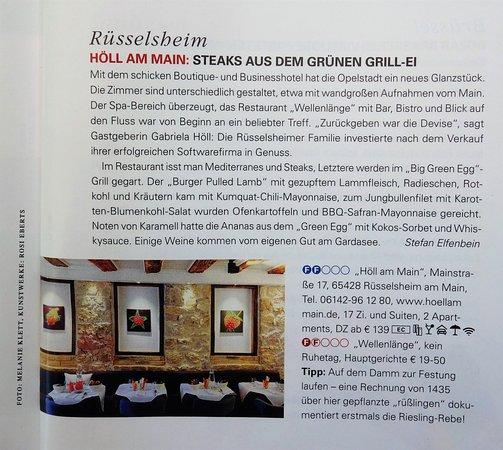 Ruesselsheim, Germany: Vom Feinschmecker ausgezeichnet