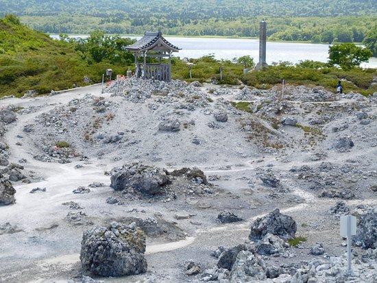 Mt. Osore Sai no Kawara : 宇曽利湖と望む