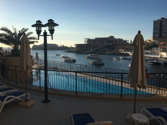 Marina Hotel Corinthia Beach Resort: View from my room