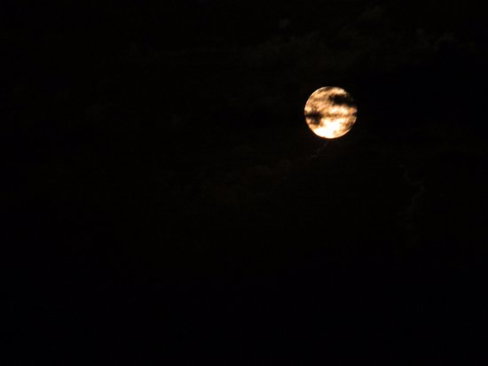 Lake City, MN : From our balcony, the full moon