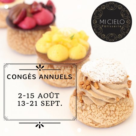Le Bouscat, France: We're closed from August 2nd through 15th and from September 13-21st.