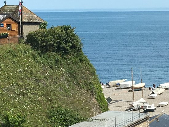Beer, UK: View of the beach from our hotel room