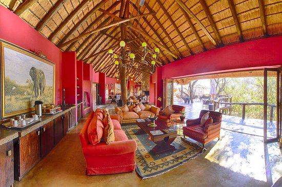 Madikwe Game Reserve, Νότια Αφρική: Lounge area in the main lodge