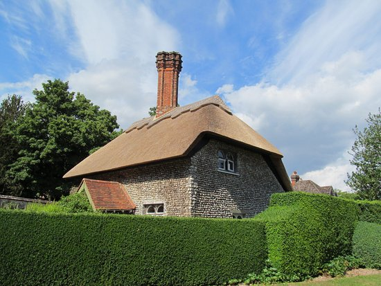 "Horley, UK: Thatched roof house in southeast England. Traveling the back roads of the ""Real England."""