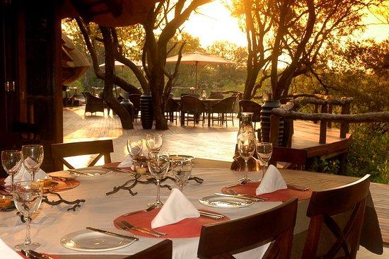 Madikwe Game Reserve, Νότια Αφρική: Main lodge dining area