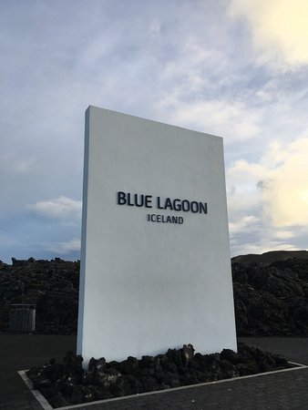 Grindavik, Islândia: Sign at the entry way