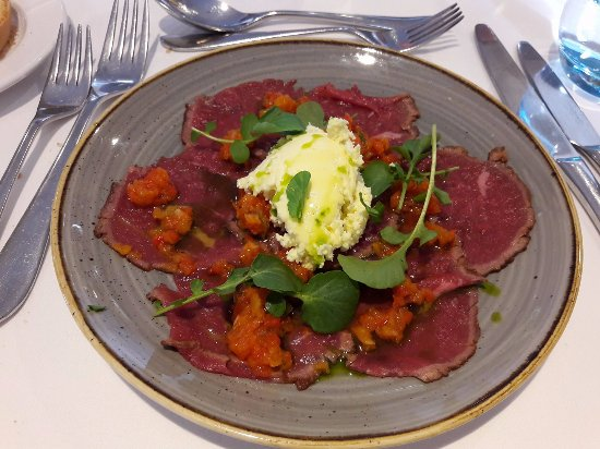 West Malling, UK: Beef carpaccio