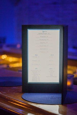 Canandaigua, NY: Our light up menus!