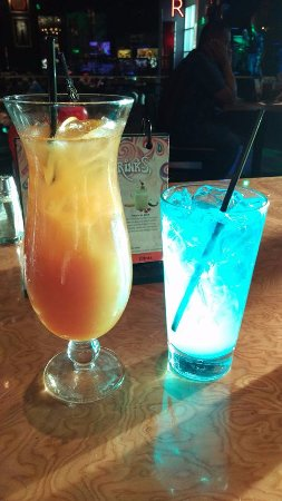Hard Rock Cafe Tampa: MaiTai and Electric blue at the Hard Rock Tampa