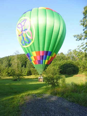 Essex, VT: Landed and getting ready to deflate