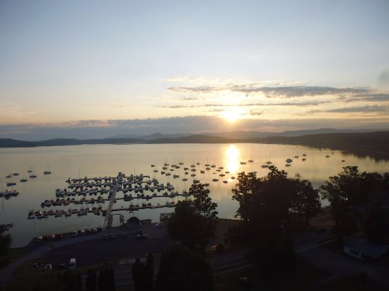Above Reality Inc. Hot Air Balloon Rides: Lake Champlain at sunrise, just after take-off
