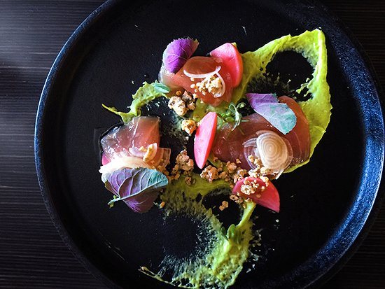 Ardovino's Desert Crossing: Marlin Crudo with Pickled Radish