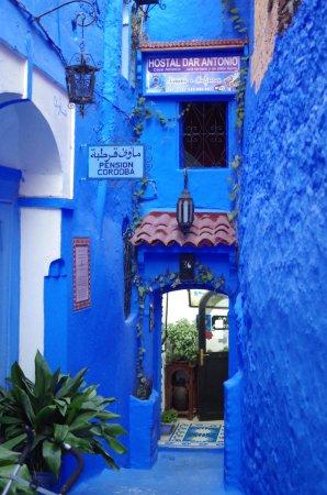 Casablanca, Maroko: The blue town.