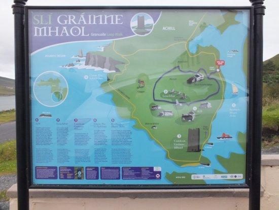 Achill Island, ไอร์แลนด์: Map of Granuaille Loop Walk