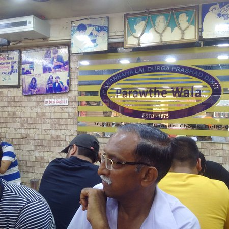 Pandit Prantha wala: Name Board inside