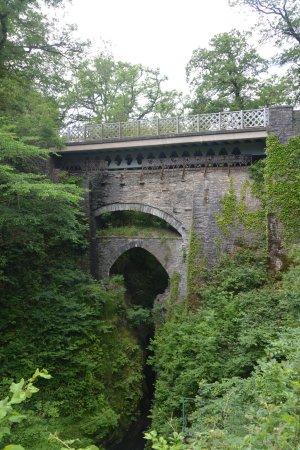 Devil's Bridge (Pontarfynach), UK: The Three Bridges over the Mynach
