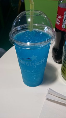 Leigh, UK: Blue Slushy for hubby (the big kid)