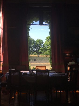 Saint-Paterne, France: Breakfast table view