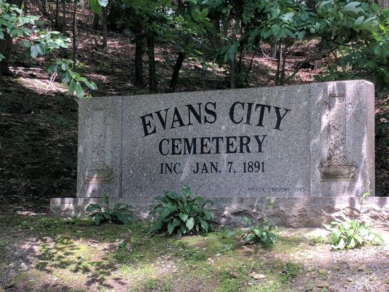 looks better in b w picture of evans city cemetery evans city