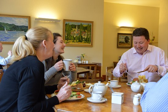 Ampleforth, UK: Enjoy eating indoors on our Mouseman furniture..