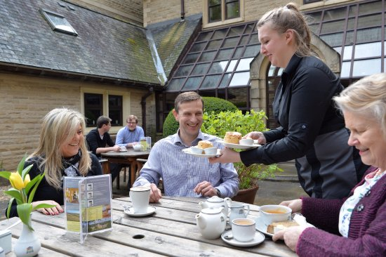 Ampleforth, UK: ...or dine al fresco in our peaceful courtyard.