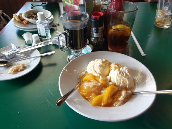 Greenville, AL: Peach cobbler with complimentary coffee!