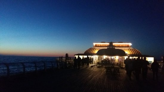 Cromer, UK: the Pier after the show and skyline