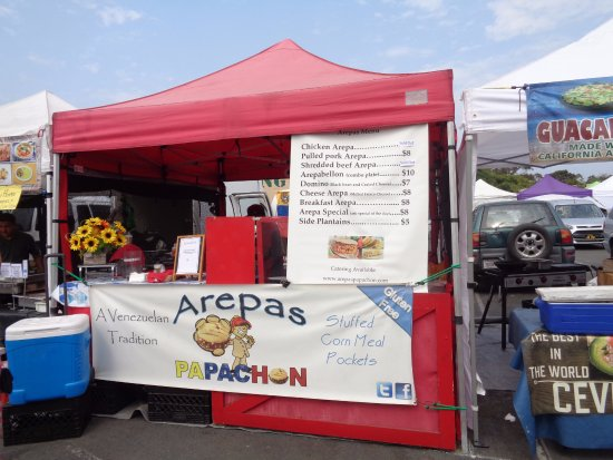 Leucadia Farmers Market: Terrible Arepas. Cheese was very dry and tasteless