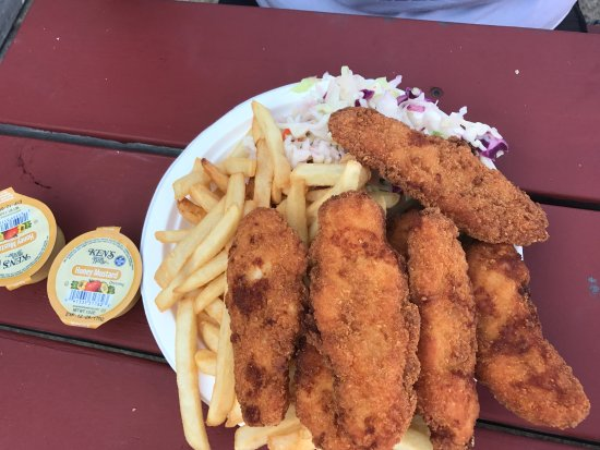 Clam Shack: Chicken tenders platter