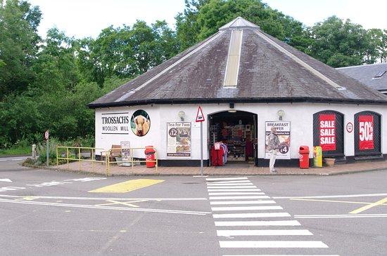 Callander, UK: entrance to shop and cafe
