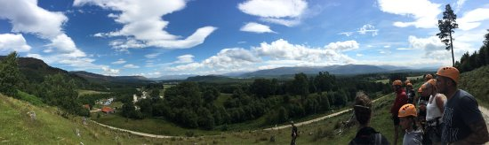 Zip Trek Park Aviemore: Glorious panoramic view on our walk up the hill