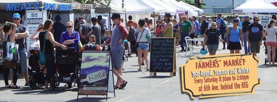 The Prince George Farmers Market, depicted in full swing on a beautiful Summer Day!