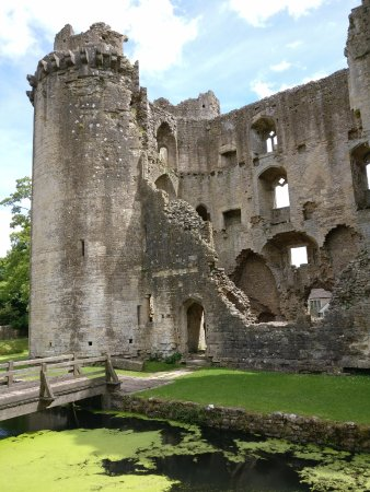 Nunney Castle from the back